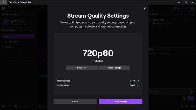 Twitch Studio: Stream Quality Settings