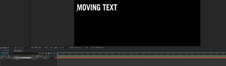 Adobe After Effects: First Keyframe