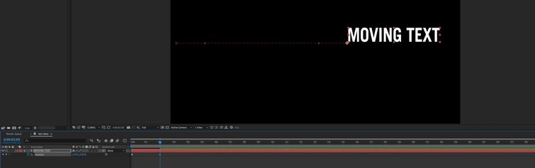 Adobe After Effects: Second Keyframe