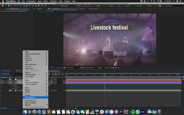 Adobe After Effects: Pre-Comp