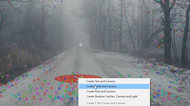 Portal Transition in After Effects: Camera Tracker