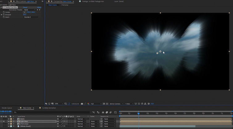 Portal Transition in After Effects: Precomp Copies