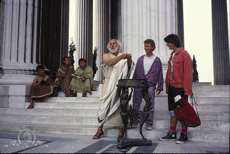 Socrates with Bill & Ted from Bill & Ted's Excellent Adventure