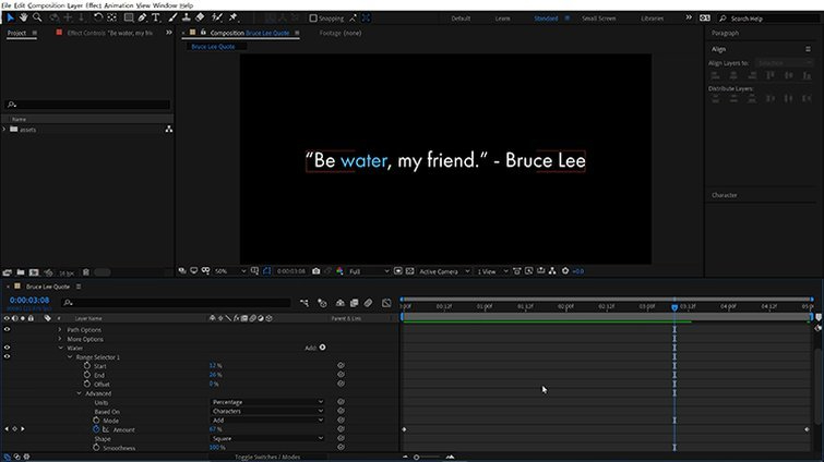 After Effects: Animate Properties
