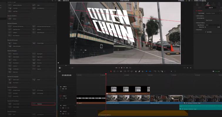 Blackmagic Announces DaVinci Resolve 17: Color and Editing - DaVinci Resolve 17: Skewed Text