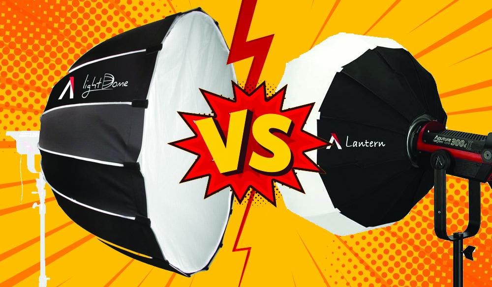 Lighting Modifiers: Aputure Light Dome Vs. Aputure Lantern