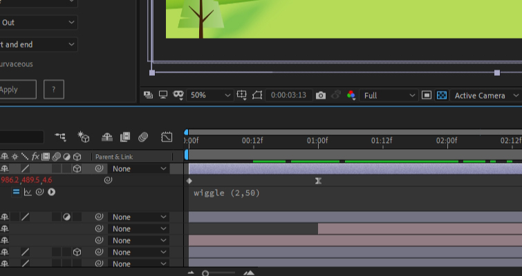 After Effects: Modify Wiggle