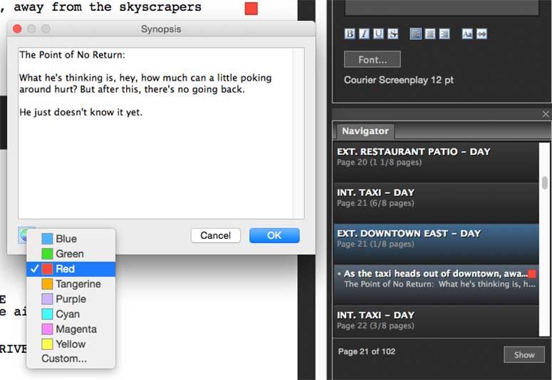 Screenwriting Software: Fade In