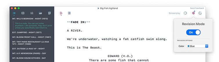 Screenwriting Software: Highland 2