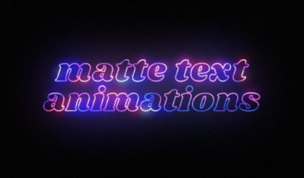 How to Create Matte Text Animations in After Effects