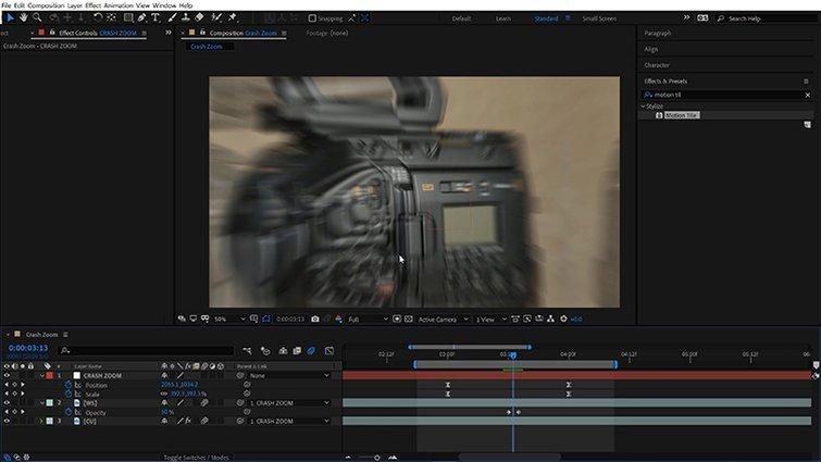 Crash Zoom: Motion Blur