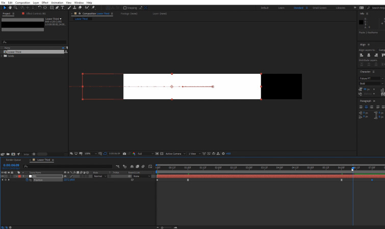 Lower Thirds Template: Animate Background Layer