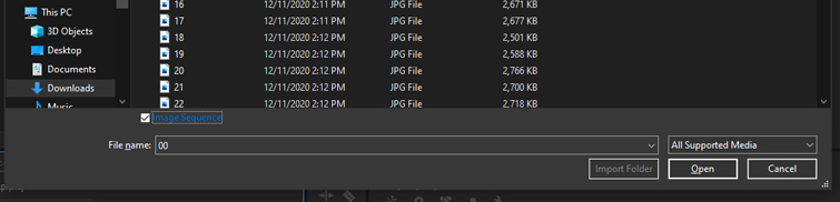 Create a Video Time-lapse from an Image Sequence in Premiere Pro - Image Sequence