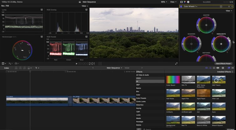 Color Wheels Inside FCPX