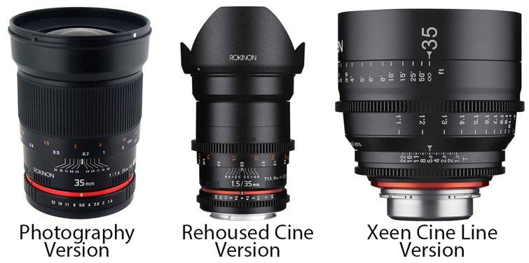 Rokinon 35mm Lenses