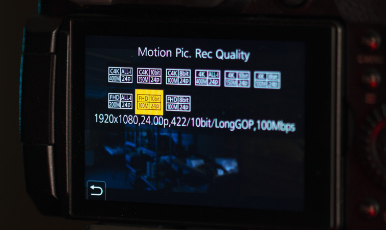 2021 Filming in 1080p: Selecting Video Resolution