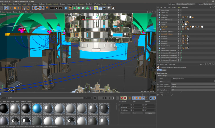 Building the Set in Cinema 4D