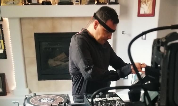 Mike Working in Studio