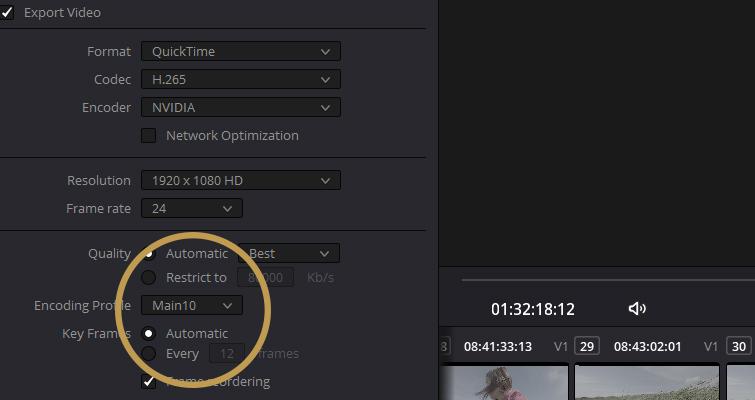 10-bit Encoding Profile