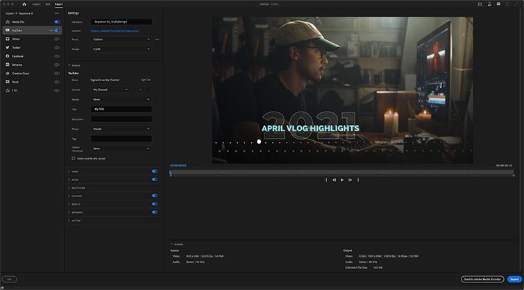 Premiere Pro Export