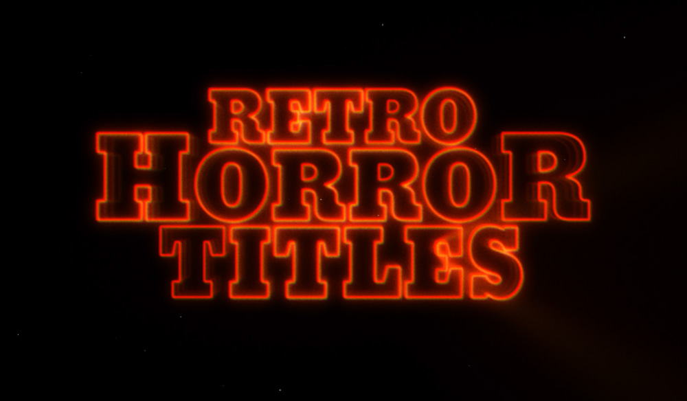 Video Tutorial: Create Retro Horror Movie Titles in After Effects