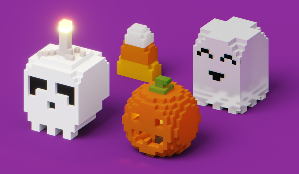 Create Halloween Voxel Art with MagicaVoxel: FREE Models Included