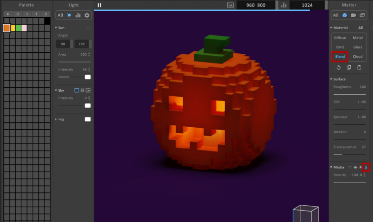 MagicaVoxel Subsurface Scattering
