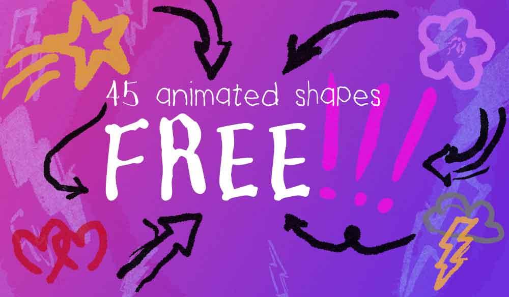 45 FREE Hand-Drawn Animated Shapes and Symbols