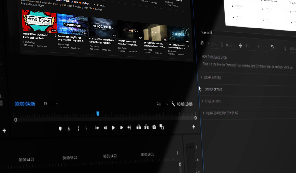 FREE Sleek Computer Screen Template for Premiere Pro - Featured